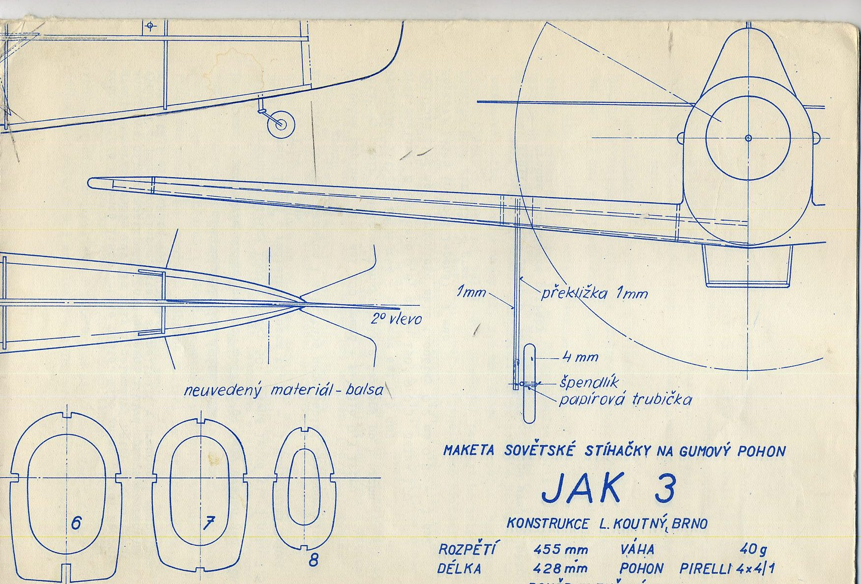 Радиоуправляемый самолет своими руками чертежи